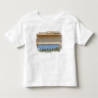 Montrachetと切り分けられるゲートおよび鍵の石 トドラーTシャツ