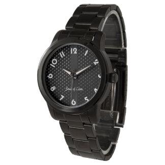 """Montre bracelet """"Noire Élégance"""" 腕時計"""