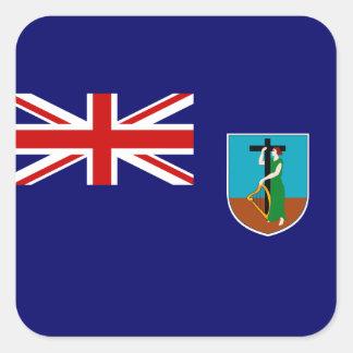 Montserratianの旗 正方形シールステッカー