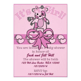 Mooのベビーシャワーの招待状 カード