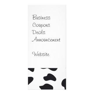 MOOの白黒乳牛パターンプリントのギフト ラックカード
