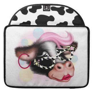 "MOOの顔牛漫画の人力車のMacbookの袖15"" MacBook Proスリーブ"