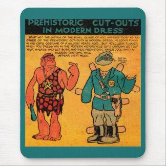 Mooの30年代の続きこま漫画の紙の人形の王室のな監視 マウスパッド