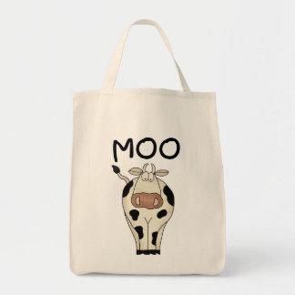 Moo牛Tシャツおよびギフト トートバッグ