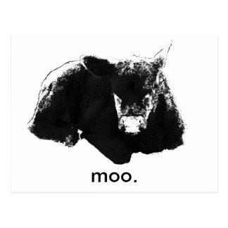 """""""Moo""""牛 ポストカード"""