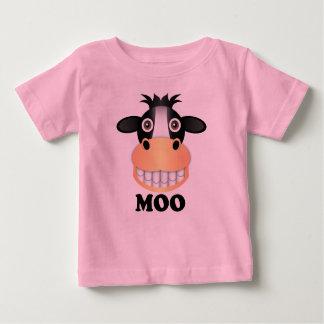 Moo -赤ん坊の素晴らしいジャージーのTシャツの ベビーTシャツ