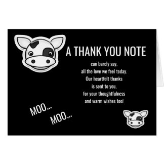 Moo Cow Thank You カード