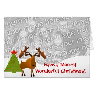 Moo stすばらしいクリスマスを持って下さい! カード