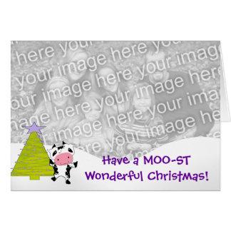 MOO-STのすばらしいクリスマスを持って下さい! カード