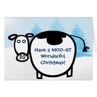 MOO-STのすばらしいクリスマスを持って下さい! - カード