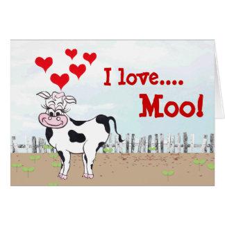 Moo… velous牛-バレンタインデーカード カード