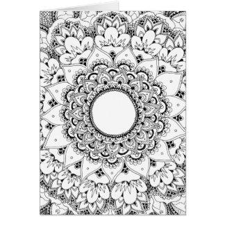 Moon mandala blank greeting card カード
