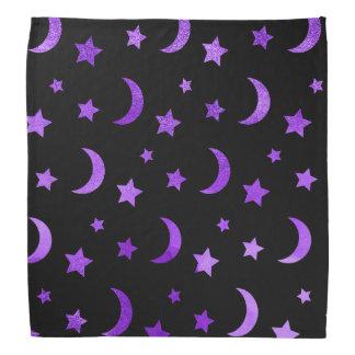 Moon & Stars Halloween Bandana Purple バンダナ