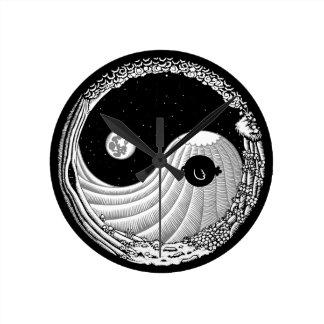 Moonbirdヤン ラウンド壁時計