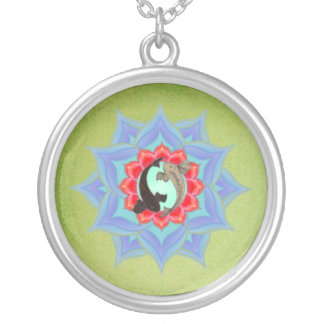 。:: MoonDreams::。 コイのはす賢人の曼荼羅 シルバープレートネックレス