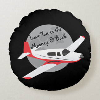 Mooney及び背部への飛行機の装飾用クッション、 ラウンドクッション