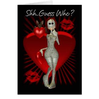 Mooniesの縫いぐるみ人形が付いているゴシック様式バレンタインデーカード カード