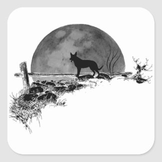 Moonlit Dog スクエアシール