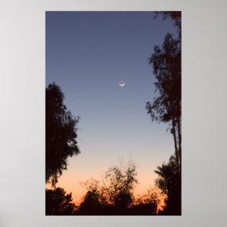 Moonriseおよび日没 ポスター