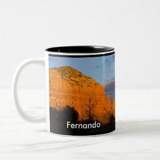 Moonriseの白熱[赤熱]光を放つで赤い石のマグのフェルナンド ツートーンマグカップ