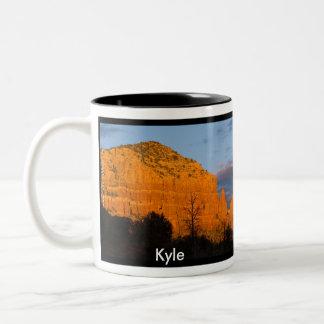 Moonriseの白熱[赤熱]光を放つで赤い石のマグのKyle ツートーンマグカップ