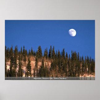 Moonrise、ドーソン都市、ユーコン準州領域 ポスター