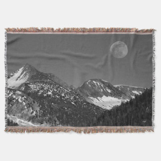 Moonrise、山脈ネバダの氷河ポイントヴィスタ スローブランケット
