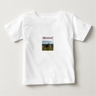 Moooo! -牛デザインの子供のTシャツ ベビーTシャツ