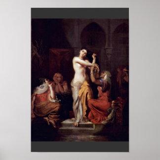 Moorishのハーレムの女性のBath場面 ポスター
