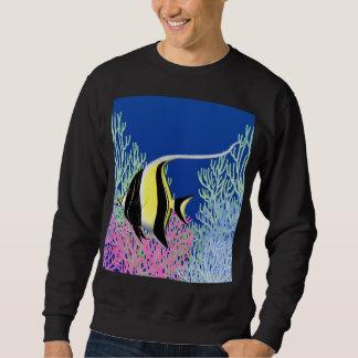 Moorishの偶像太平洋礁の魚のスエットシャツ スウェットシャツ