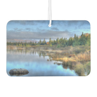 Moosehead湖メインの秋の日の出 カーエアーフレッシュナー