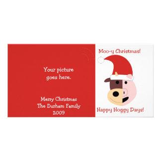MooyクリスマスおよびHoggyの幸せな日! カード