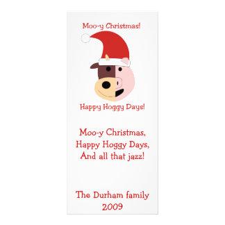 MooyクリスマスおよびHoggyの幸せな日! ラックカード
