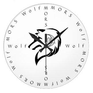 MORのオオカミのアナログの時計 ラージ壁時計