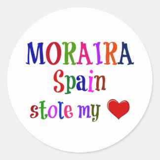 Morairaスペインのストール私のハート ラウンドシール