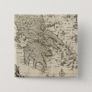 Morea、ギリシャ 5.1cm 正方形バッジ