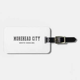 Morehead都市ノースカロライナ ラゲッジタグ
