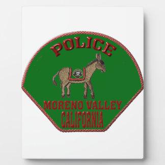 Moreno Valleyの警察 フォトプラーク