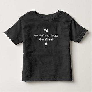 MoreThan1幼児の黒のTシャツ(Blkで白い) トドラーTシャツ