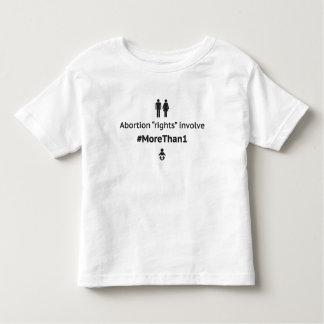 MoreThan1幼児のTシャツ(白いのBlk) トドラーTシャツ