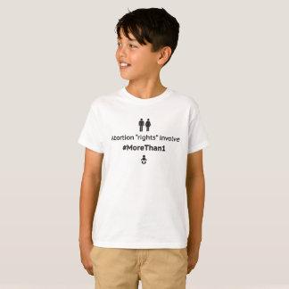 MoreThan1青年ユニセックスなTシャツ(白いのBlk) Tシャツ
