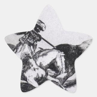 Morisco Gazulは雄牛を戦う第1です 星シール