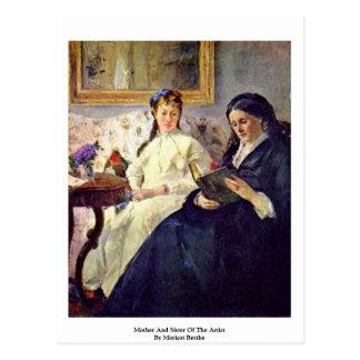 Morisot Berthe著芸術家の母そして姉妹 ポストカード