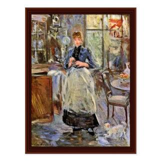 Morisot Berthe著食堂 ポストカード