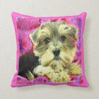 morkieの子犬の枕 クッション
