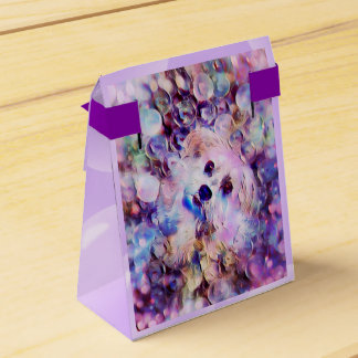 Morkieの小犬の紫色の泡テントの好意箱 フェイバーボックス
