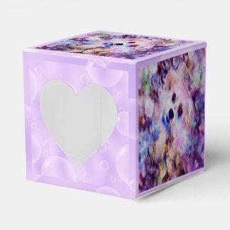 Morkieの小犬の紫色の泡ハートの好意箱 フェイバーボックス