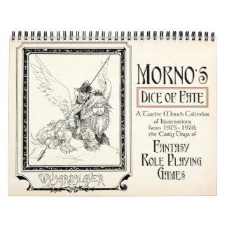 Mornoの運命のカレンダーのサイコロ カレンダー