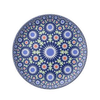 Moroccoanのヴィンテージのfesの陶磁器の磁器皿 磁器プレート