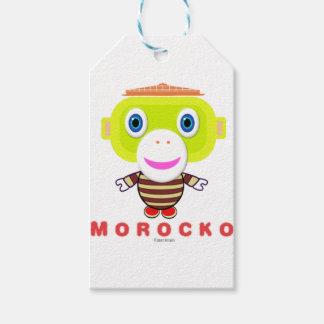 Morockoかわいい猿 ギフトタグ